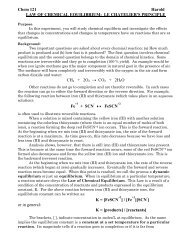 Chem 121 Harold LAW OF CHEMICAL EQUILIBRIUM: LE ... - Library