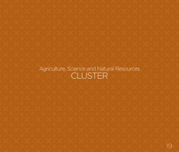 AGRICULTURE SCIENCE AND NATURAL RESOURCES