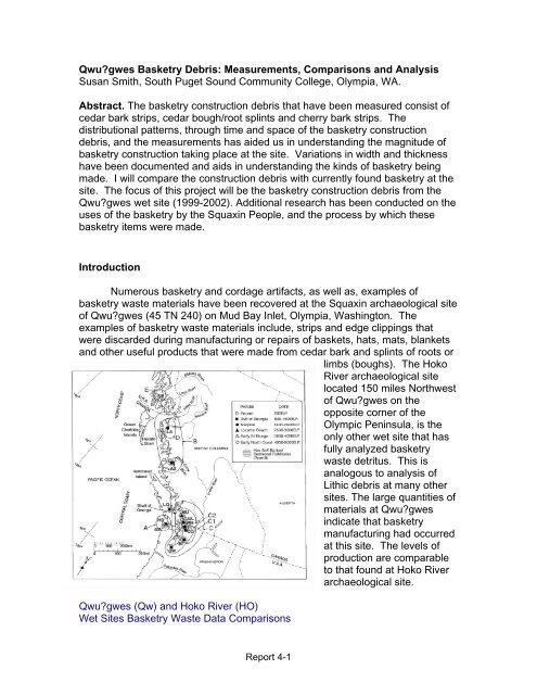 Qwu?gwes Basketry Debris: Measurements, Comparisons ... - Library