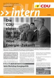 Aus den Ortsverbänden KREISTEIL - CDU Kreisverband Ravensburg