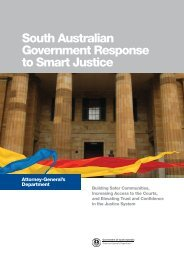 South Australian Government Response to Smart Justice (PDF
