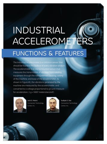 industrial accelerometers - Connection Technology Center