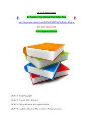 HCS 478 Entire Course/snaptutorial
