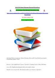 HCS 478 Ethical Dilemmas Microsoft PowerPoint/snaptutorial