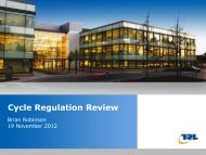 Cycle Insert Regulation the title of Review your presentation here