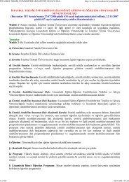 istanbul teknik üniversitesi lisansüstü senato esasları