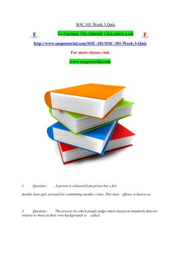 sociology 101 chapter 1 quiz