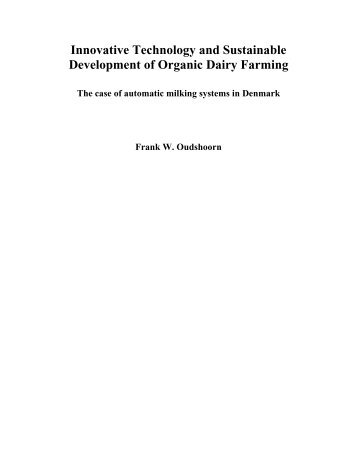 Innovative Technology and Sustainable Development of Organic - 1.