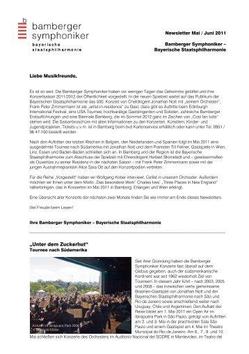 12_Newsletter Mai-Juni 2011 - Bamberg Symphony Orchestra