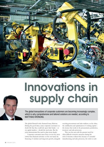 Innovations in supply chain