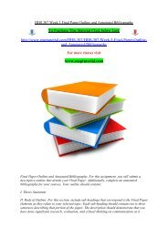 HHS 307 Week 3 Final Paper Outline and Annotated Bibliography/snaptutorial