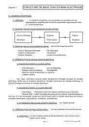 STRUCTURE DE BASE D'UN SCHEMA ELECTRIQUE