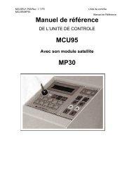 Manuel de référence MCU95 MP30