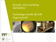 30/10/2012 Technology transfer @ VUB Hugo Loosvelt
