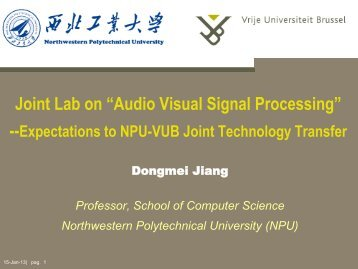 Collaboration History between NPU-VUB