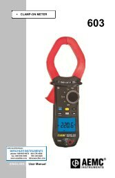 CLAMP-ON METER User Manual E N G L I S H - Weschler Instruments