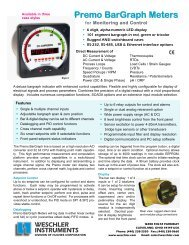 Premo Bargraph Meter from Weschler Instruments - Categories