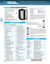 Weschler Quatro BarGraph Meters - Weschler Instruments