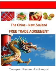 CHINA-NEW ZEALAND FREE TRADE AGREEMENT 2-YEAR REVIEW JOINT REPORT