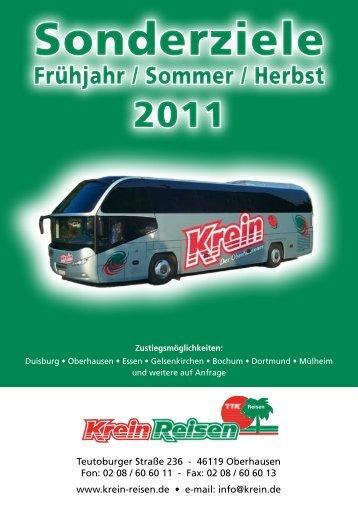 Sonderziele - Krein-Reisen