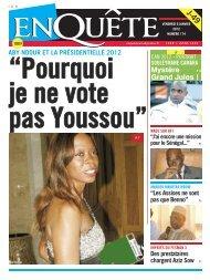 """""""Pourquoi je ne vote pas Youssou"""""""
