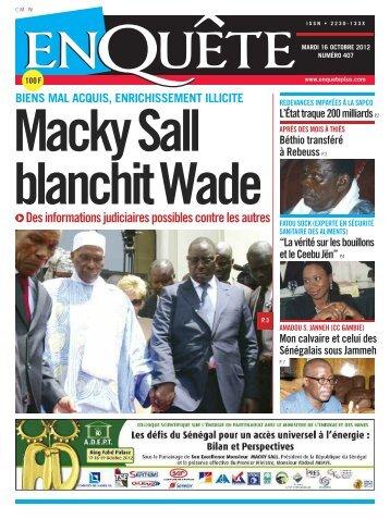 Macky Sall blanchit Wade