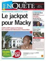 Le jackpot pour Macky