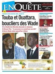 Touba et Ouattara boucliers des Wade