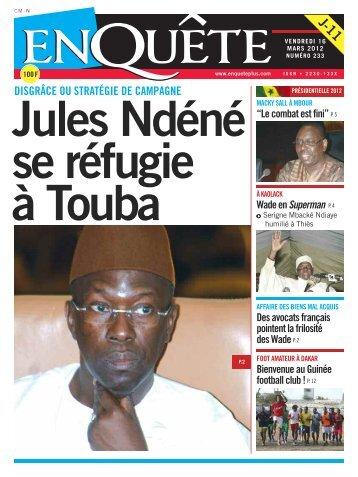 Jules Ndéné se réfugie à Touba