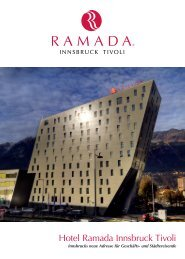 Highlights in Tirol - Hotel Ramada Innsbruck Tivoli