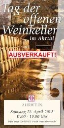 Tag der offenen Weinkeller im Ahrtal Samstag 21. April ... - Ahrwein eV