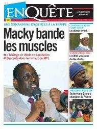 Macky bande les muscles