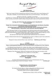 Samstag, den 10. November bis Samstag, den 17. November 2012