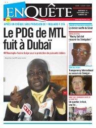 Le PDG de MTL fuit à Dubaï