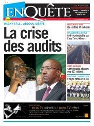 La crise des audits