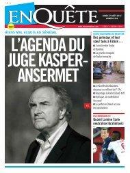 L'AGENDA DU JUGE KASPER- ANSERMET