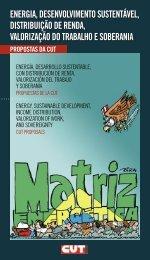 energia, desenvolvimento sustentável, distribuição de renda ... - CUT