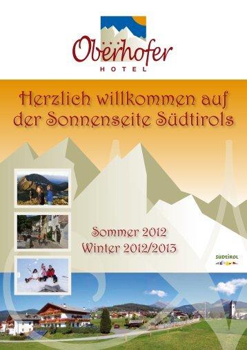 Sommer 2012 & Winter - Hotel Oberhofer