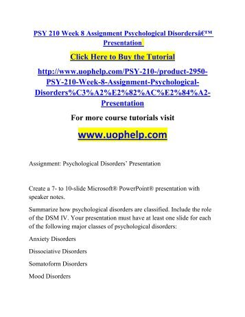 week nine psy 270 final project Essays - largest database of quality sample essays and research papers on week 9 final project psy 270.