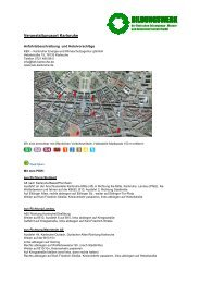 Den Anfahrtsplan finden Sie hier. (PDF-Datei) - BwDE