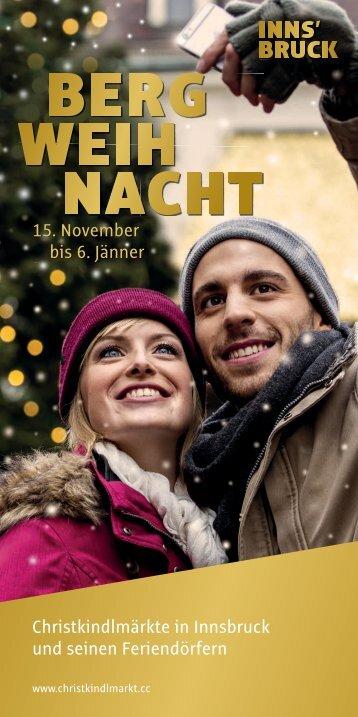 Bergweihnacht Innsbruck Programm 2015