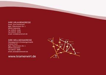 Preisliste 2012 - Hotel Kramerwirt