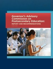Governor's Advisory Commission on Postsecondary Education: