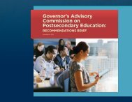Governor's Advisory Commission on Postsecondary Education