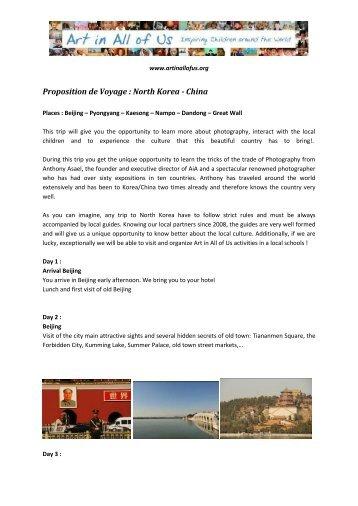 Proposition de Voyage : North Korea - China - Anthonyasael.com