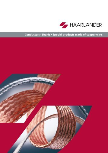 Conductors, Braids, Special products made of copper wire