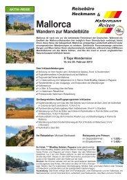 Mallorca Wandern zur Mandelblüte - Reisebuero Heckmann