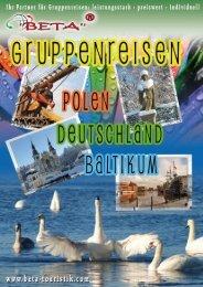 Katalog Gruppenreisen Polen, Deutschland, Baltikum - Start