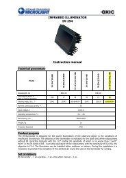 INFRARED ILLUMINATOR IR-294 Instruction manual