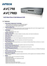 AVC798 AVC798D 16CH Real-Time H.264 Network DVR